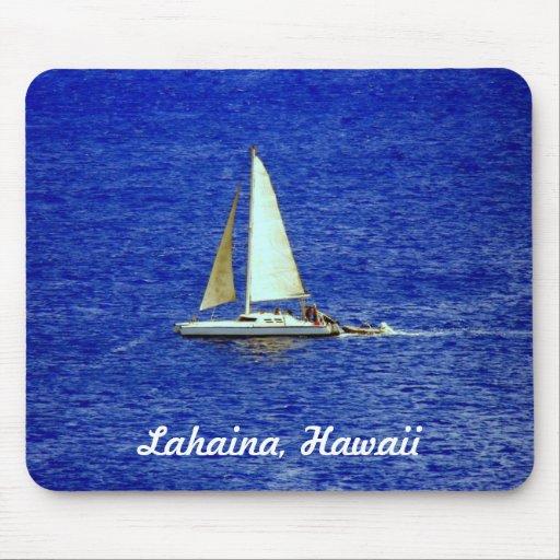 Velero, Lahaina, Maui Hawaii Alfombrilla De Ratones
