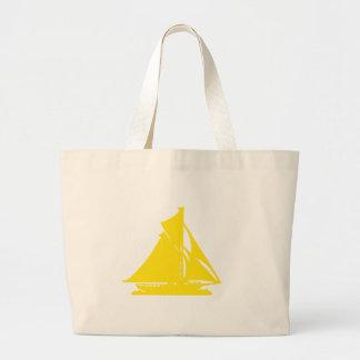 Velero LG-transp amarillo Vero Beach El MUSEO Za Bolsa Tela Grande
