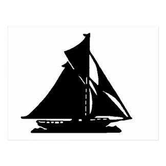 Velero LG-transp negro Vero Beach El MUSEO Zaz Tarjetas Postales