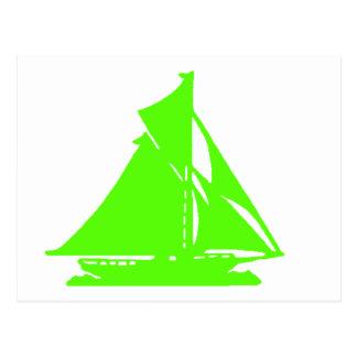 Velero LG-transp verde Vero Beach El MUSEO Zaz Postal