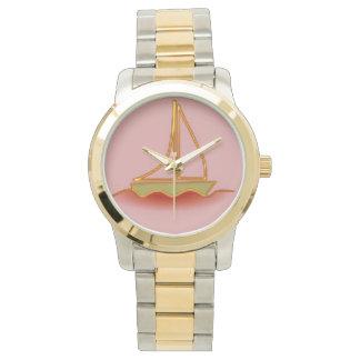 Velero rosado relojes