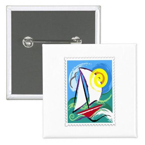 Velero y sello abstractos de Sun Pin