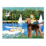 Veleros - Airedale Terrier (#6) Tarjeta Postal