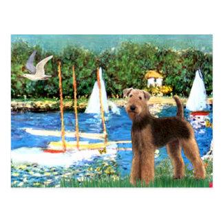 Veleros - Airedale Terrier (#6) Tarjetas Postales