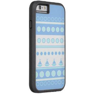 Veleros azules y filas de los círculos funda para  iPhone 6 tough xtreme