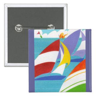 Veleros coloridos pin cuadrada 5 cm