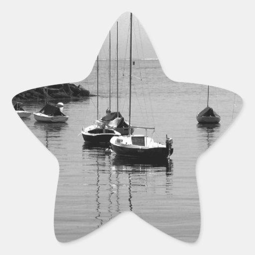 Veleros de B&W Calcomanias Forma De Estrella