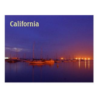 Veleros de California en puerto deportivo en la po Tarjeta Postal