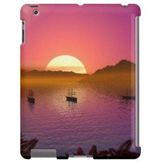 Veleros de Sun del amanecer de la salida del sol Funda Para iPad