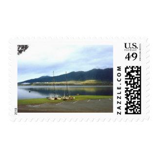Veleros en el personalizar del arte de la foto de sellos