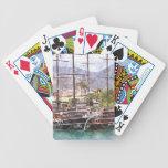 Veleros en el puerto baraja cartas de poker