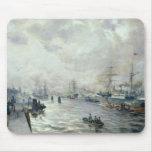 Veleros en el puerto de Hamburgo, 1889 Mouse Pads