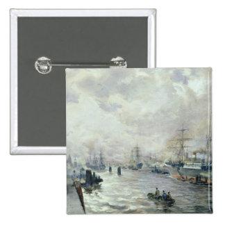 Veleros en el puerto de Hamburgo, 1889 Pins