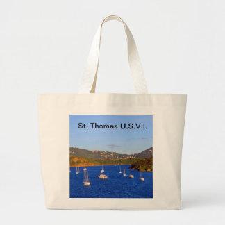 Veleros en el puerto de St Thomas Bolsa Lienzo