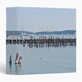 "Veleros en la costa del puerto viejo, Portland Carpeta 1 1/2"""