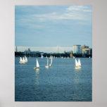 Veleros en un río, el río Charles, Boston, 2 Poster