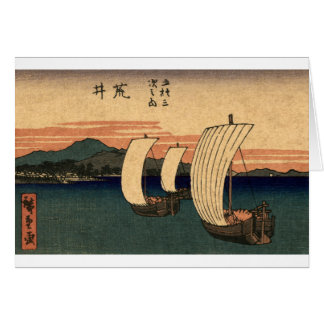 Veleros japoneses tarjeta de felicitación