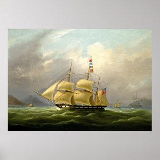 veleros que pintan 40 póster