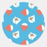 Veleros rojos lisos del Dachshund azules Etiquetas