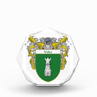 Velez Coat of Arms Family Crest Award