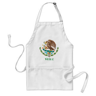 Velez Mexican National Seal Adult Apron