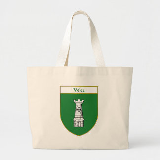 """Velez """"Velez Coat of Arms"""" """"Velez Family Crest"""" """"P Canvas Bag"""