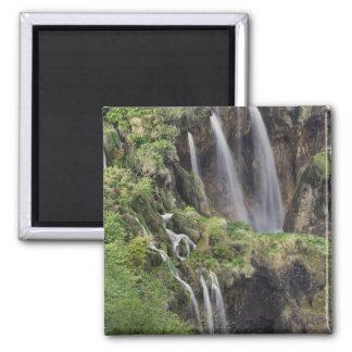 Veliki Slap (Waterfall) Plitvice Lakes National 2 Inch Square Magnet