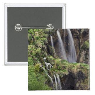 Veliki Slap (Waterfall) Plitvice Lakes National Pinback Button