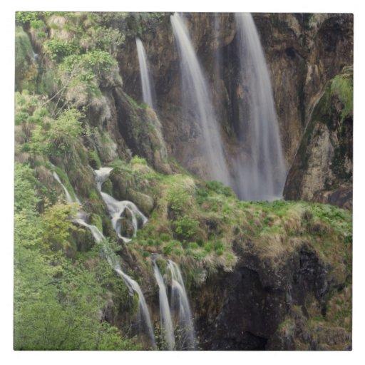 Veliki Slap Waterfall Plitvice Lakes National Ceramic Tiles Zazzle