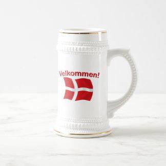 Velkommen - (recepción) jarra de cerveza