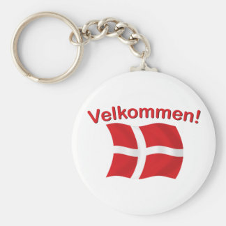 Velkommen - (recepción) llavero redondo tipo pin