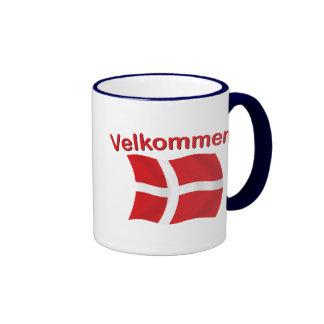 Velkommen - (recepción) taza de dos colores