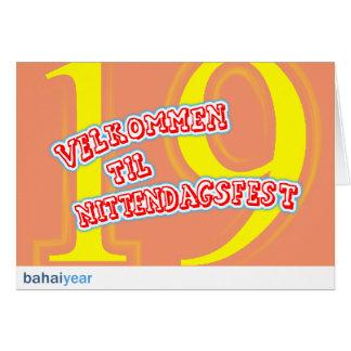 Velkommen to nittendagsfest card