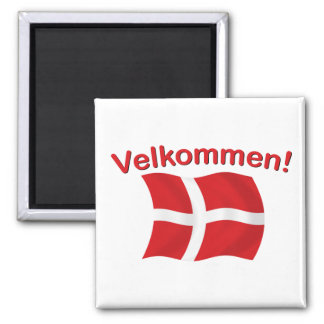 Velkommen - (Welcome) Refrigerator Magnet