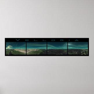 Velloria - 360 degree panoramic frieze poster