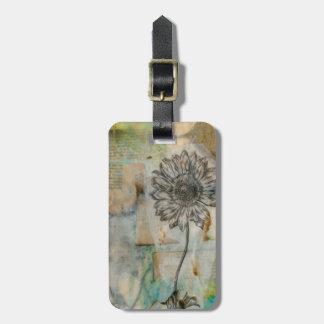 Vellum Floral I Luggage Tag