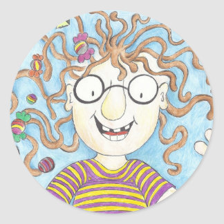 Velma's lollies classic round sticker