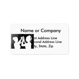 Velo de novia blanco y negro por el &bridesmaid de etiquetas de dirección