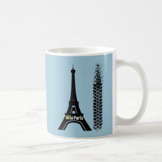 Velo Paris Bicycle Eiffel Tower Coffee Mug