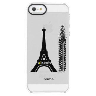 Velo Paris Bike Eiffel Tower Clear iPhone SE/5/5s Case