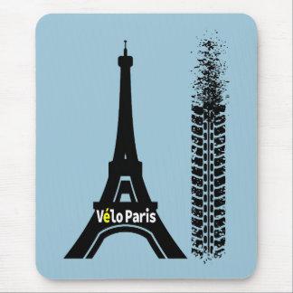 Velo Paris Bike Eiffel Tower Mouse Pad