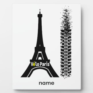 Velo Paris Bike Eiffel Tower Plaque