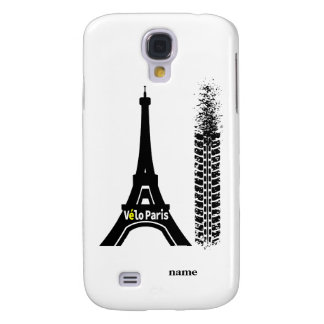 Velo Paris Bike Eiffel Tower Samsung Galaxy S4 Cover