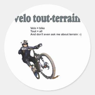 Velo Tout-Terrain Classic Round Sticker