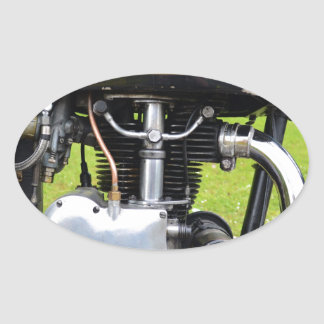 Velocette Engine Oval Sticker