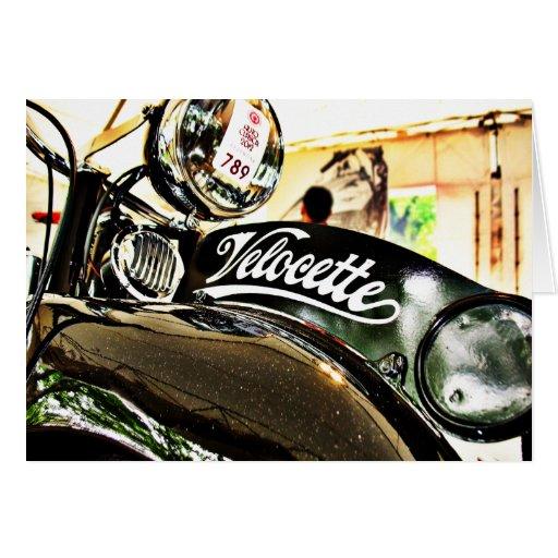 Velocette M Series vintage motorcycle Greeting Card