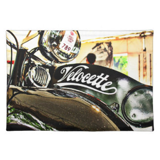 Velocette M Series vintage motorcycle Place Mats