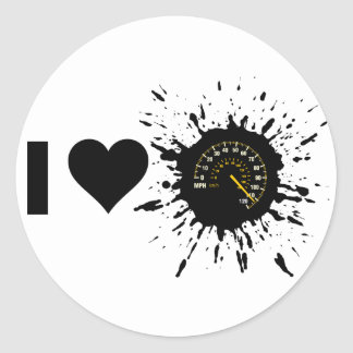 Velocidad 1 del amor del explosivo I Pegatina Redonda