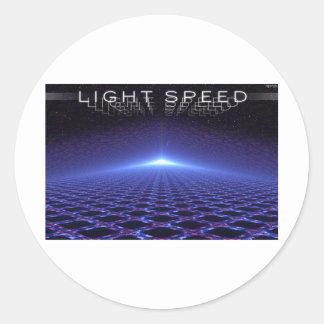 Velocidad de la luz etiqueta