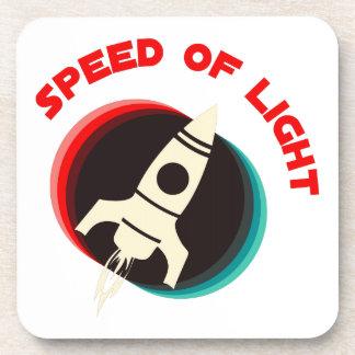 Velocidad de la luz posavasos de bebida